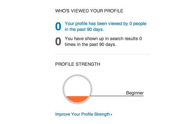 LinkedIn profile completion