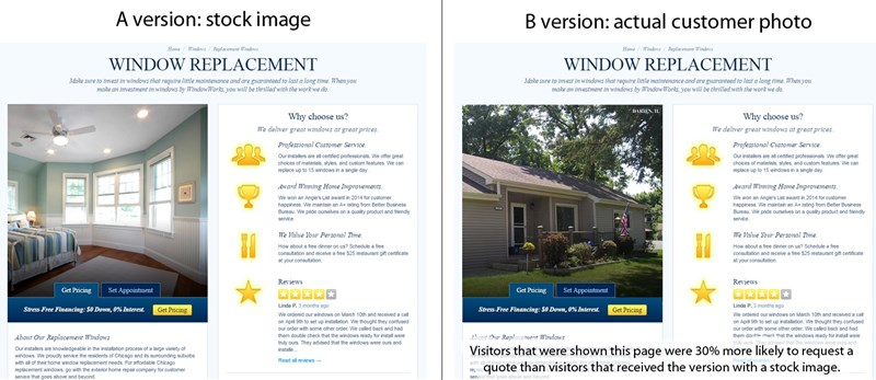 Image of window repair before and after