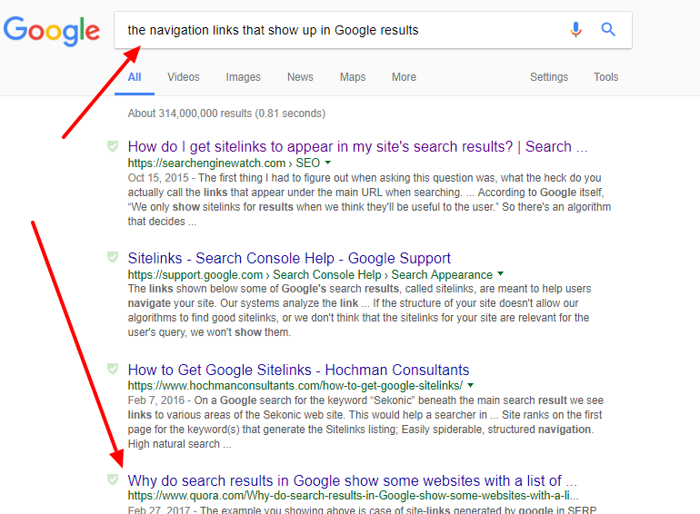 Headlines archives kyleads i had no idea where to start i just typed in a random query i thought would yield results the navigation links that show up in google results fandeluxe Image collections