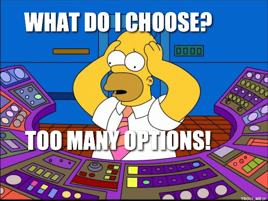 website optimization mistake - choice meme