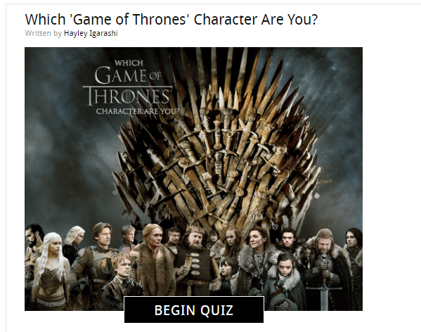 game of thrones character interactive quiz