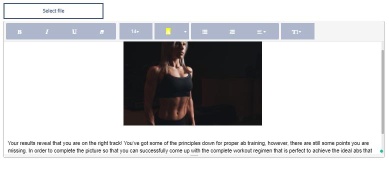 interactive quiz outcome image