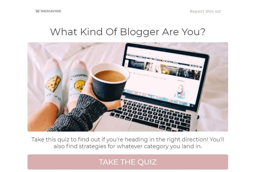 what kind of blogger are you interactive quiz