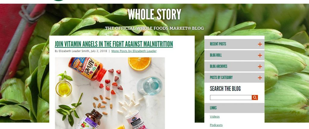 Wholw foods blog