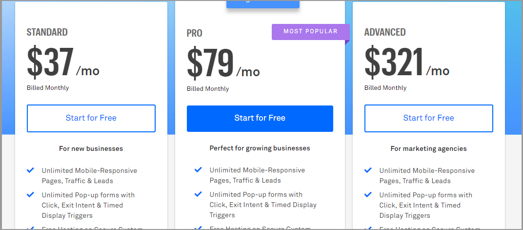 Leadpages pricing strategy