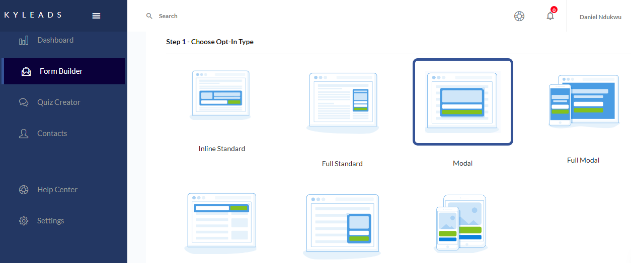 image of creating a content upgrade in KyLeads step 3