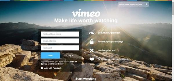 Vimeo UVP example