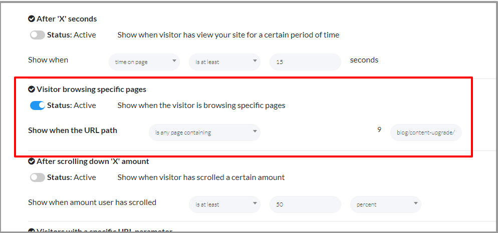 image of creating a content upgrade in KyLeads step 6