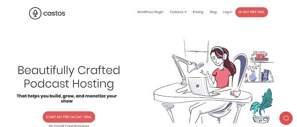 castos podcast hosting platform