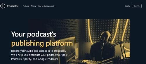 transistor fm podcast hosting site